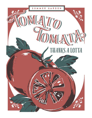 Tomato Tomata Thank You Letterpress Card