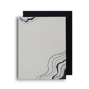 Topographical Letterpress Notecard