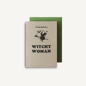 Witchy Woman Letterpress Card