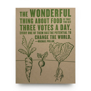 Wonderful Food Letterpress Poster