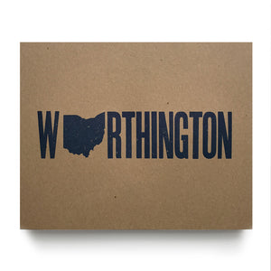 Worthington Ohio Letterpress Poster