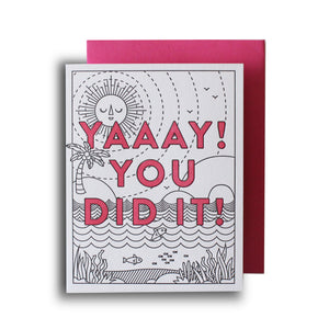 Yaaay! You Did It Letterpress Card