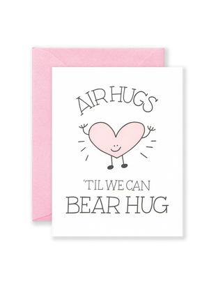 Lionheart Prints - Air Hugs Greeting Card - Quarantine Cards