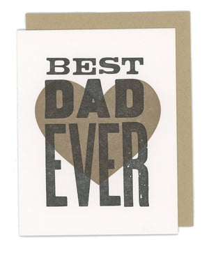 Best Dad Ever Letterpress Card
