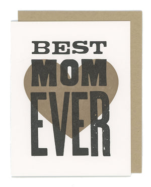 Best Mom Ever Letterpress Card