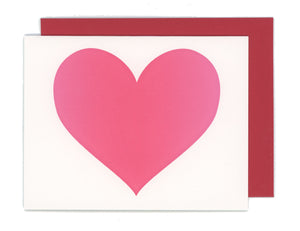 Big Heart Letterpress Card