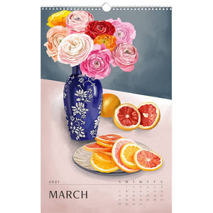 Paper Source Wholesale - 2021 Wall Art 12-Month Calendar