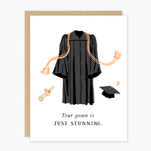 Party of One - Stunning Gown Graduation Card