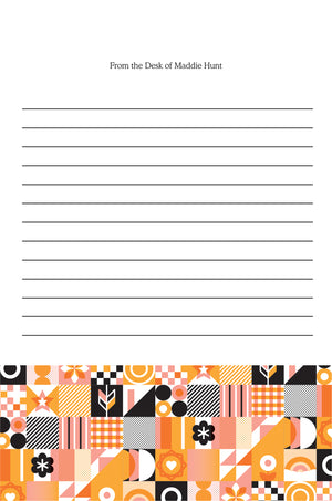 Grid Pattern Personalized Notepad