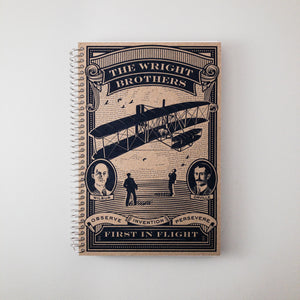 First in Flight Spiral Bound Notebook with Letterpress Cover