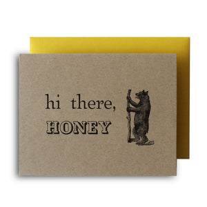 Hi There, Honey Letterpress Card