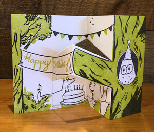 Forest Birthday Pop Up Letterpress Card