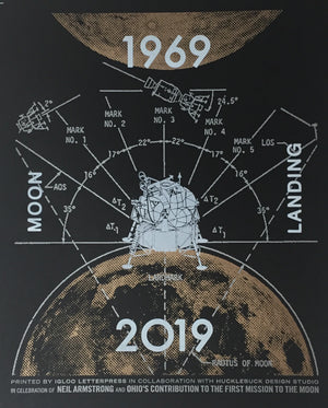 MOON LANDING Limited Edition Letterpress Print