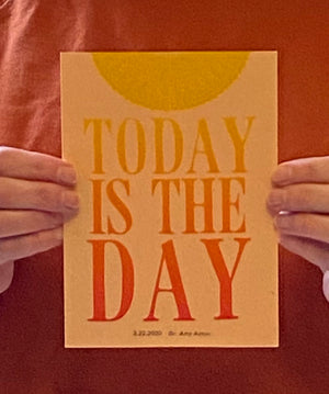 Today is the day Dr Amy Acton letterpress print
