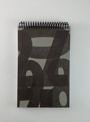 Black & Grey Number Spiral Notebook