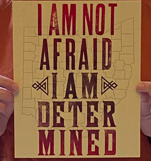 I Am Not Afraid Dr Amy Acton letterpress print