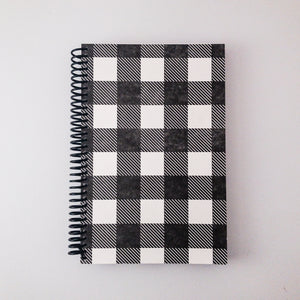 Buffalo Plaid Letterpress Spiral Notebook - Large