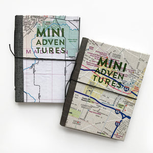 Mini Adventure Journal with Letterpress Cover