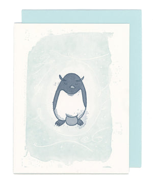 Papa Penguin Letterpress Card