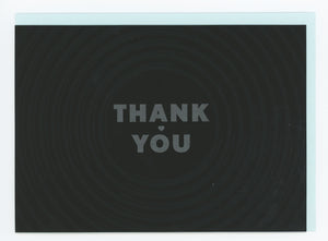 Record Groove Thank You Letterpress Card