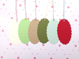 Scalloped Blank Tags set of 8