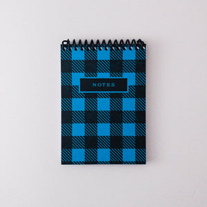 Buffalo Plaid Letterpress Spiral Notebook