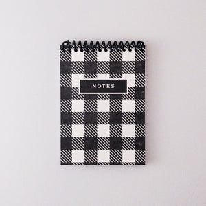 Buffalo Plaid Letterpress Spiral Notebook - Small