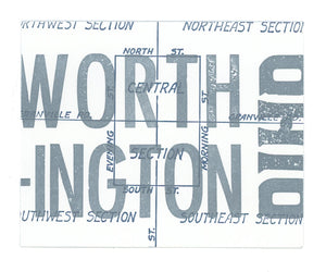 Old Worthington Letterpress Postcard