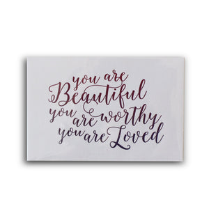 You are Beautiful Letterpress Card