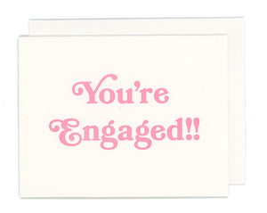 You're Engaged! Letterpress Card