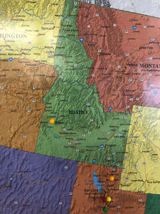Sending Waffles across the U.S. Image is a picture of Idaho, our 46th state we shipped waffles to.