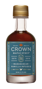 Crown Maple Madagascar Vanilla Infused Organic Maple Syrup 50ml