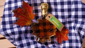Pure Maple Syrup In Classic Glass Maple Leaf Bottle 100ml