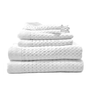 6-Pc Modern Lattice-Style Luxury Bath Towel Set
