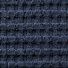 Load image into Gallery viewer, Modern Waffle Towels - oversized, quick dry towels - Midnight Blue Swatch