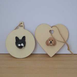 Handmade custom pet christmas ornaments