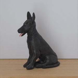 polymer clay German Shepherd Dog figurine