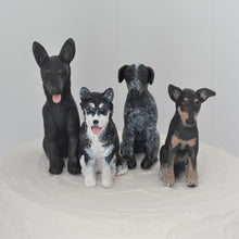 4 polymer clay custom dog cake toppers