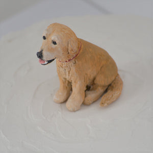 Handmade Golden retriever dog cake topper