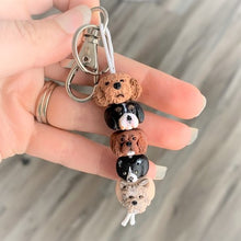 5 bead custom pet keychain