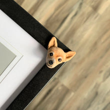 Pet memorial photo frame corner with a Chihuahua feature