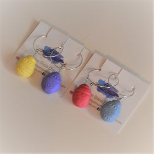 Easter entertaining wine glass charms
