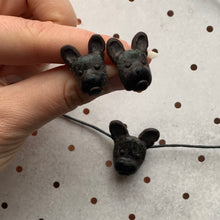 Handmade brindle french bulldog necklace and earrings