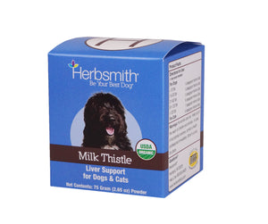 Herbsmith Organic Milk Thistle for Dogs and Cats – Detox Liver Supplement for Dogs & Cats – Made in USA