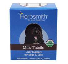 Load image into Gallery viewer, Herbsmith Organic Milk Thistle for Dogs and Cats – Detox Liver Supplement for Dogs & Cats – Made in USA