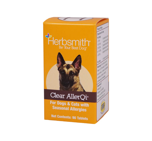 Herbsmith Clear AllerQi – Allergy Aid for Cats and Dogs – Pet Allergy Support – Anti Itch Pills for Dogs and Cats