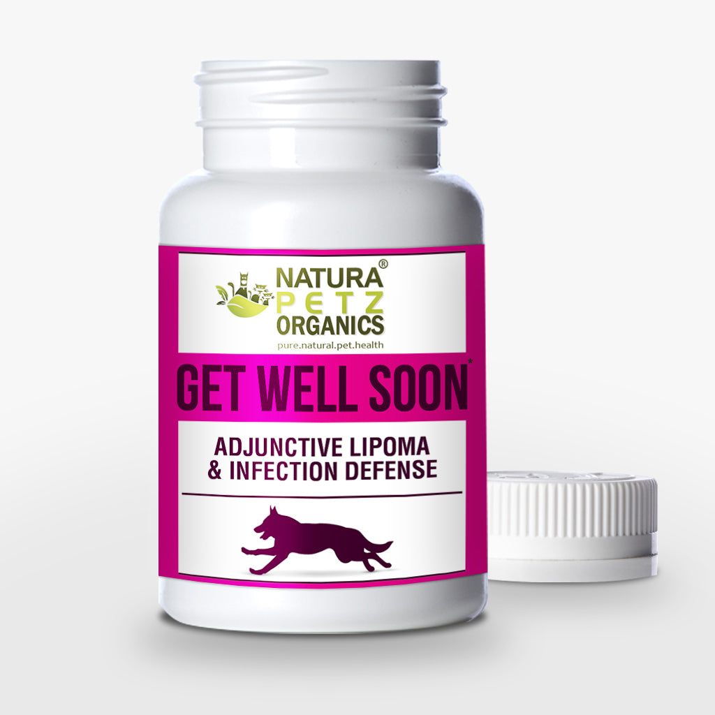 Natura Petz Organics - Get Well Soon, Adjunctive Lipoma Support (Growths, Masses) + Infection Defense, 90 Capsules, 300mg Per Capsule