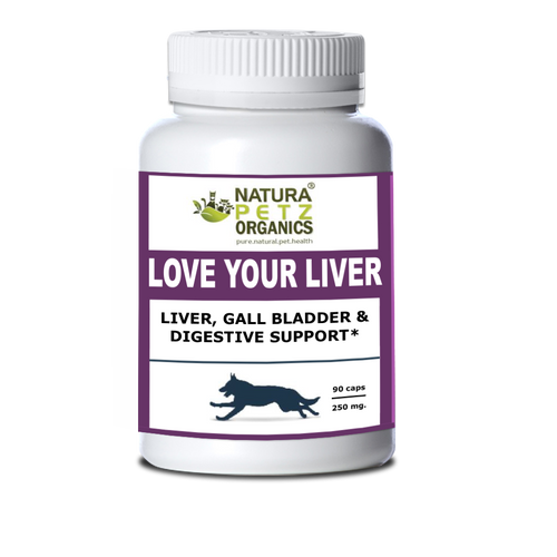 Natura Petz Organics - Love Your Liver - Detox + Liver, Kidney, Gall Bladder & Digestive Support, 90 Capsules Extract, 350mg Per Capsule