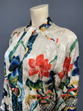 1920s vintage bold oriental print satin lined duster jacket