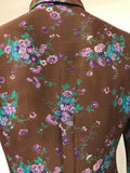 floral print 1970s vintage Jeff Banks blouse - flawed but wearable